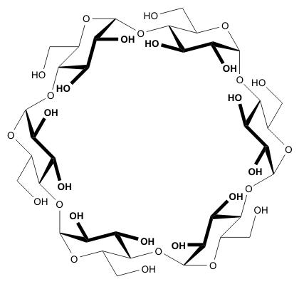 α-シクロデキストリンの化学構造