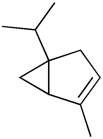 α-ツジェンの化学構造