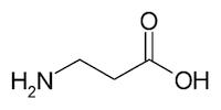 β-アラニンの化学構造