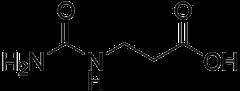 β-ウレイドプロピオン酸の化学構造