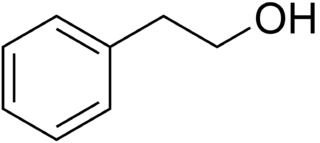 β-フェネチルアルコールの化学構造