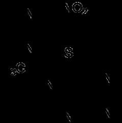 アザチオプリンの化学構造