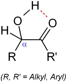 アシロイン(α-ヒドロキシケトン)の化学構造