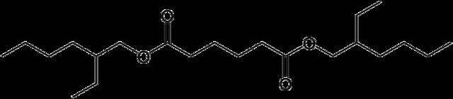 アジピン酸ジエチルヘキシル(アジピン酸ビス(2-エチルヘキシル))の化学構造