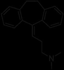 アミトリプチンの化学構造