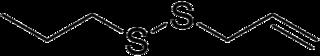 アリルプロピルジスルフィドの化学構造