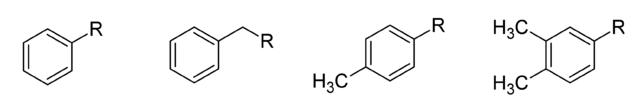 アリール基の化学構造