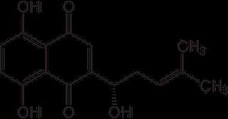 アルカンニンの化学構造