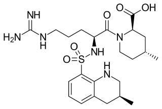 アルガトロバンの化学構造