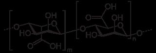 アルギン酸の化学構造
