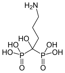 アレンドロン酸の化学構造