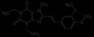 イストラデフィリンの化学構造