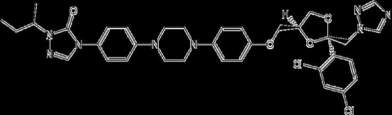イトラコナゾールの化学構造