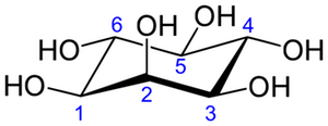 イノシトール環の化学構造