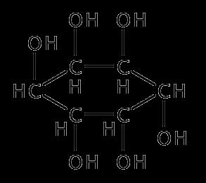 イノシトールの化学構造