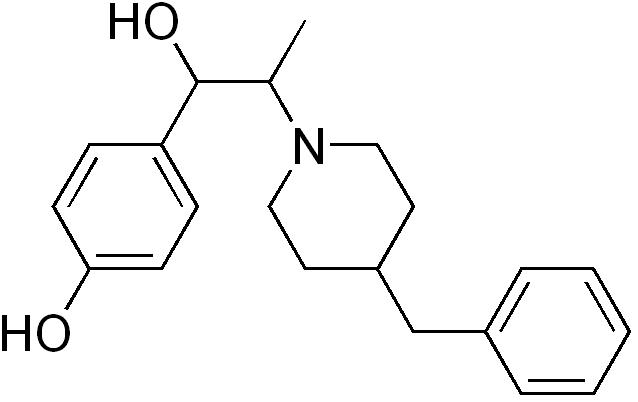 イフェンプロジルの化学構造