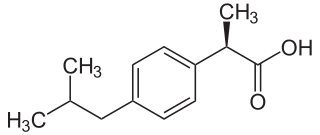 イブプロフェン(R体)の化学構造