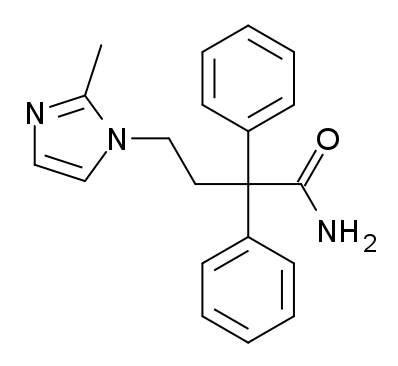 イミダフェナシンの化学構造