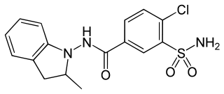 インダパミドの化学構造
