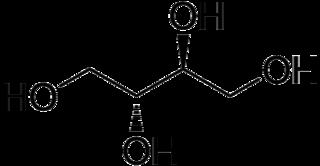 エリスリトール(エリトリトール)の化学構造