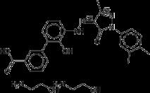 エルトロンボパグオラミンの化学構造