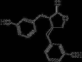 エンテロラクトンの化学構造