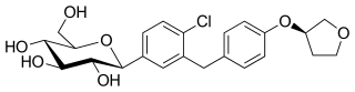 エンパグリフロジンの化学構造