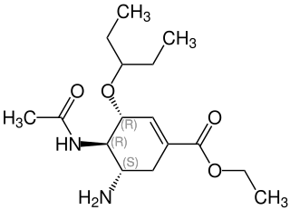 オセルタミビルの化学構造