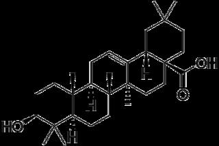 オレアノール酸の化学構造