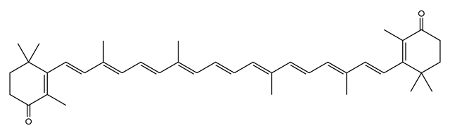カンタキサンチンの化学構造