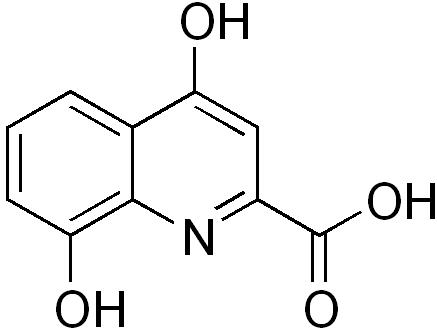 キサンツレン酸の化学構造