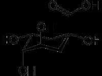 キナ酸の化学構造