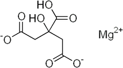 クエン酸マグネシウムの化学構造