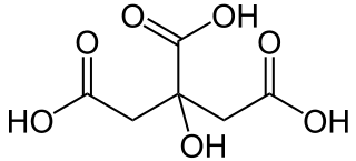 クエン酸の化学構造