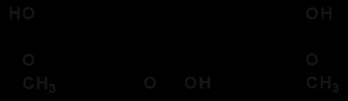 クルクミンの化学構造