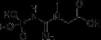 クレアチンリン酸の化学構造
