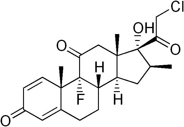 クロベタゾンの化学構造