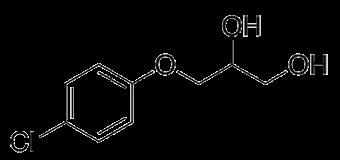 クロルフェネシンの化学構造