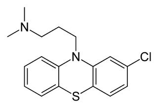 クロルプロマジンの化学構造