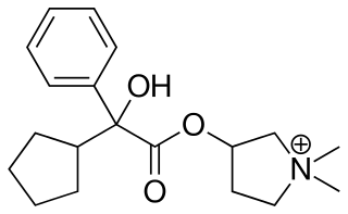 グリコピロニウムの化学構造