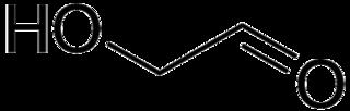 グリコールアルデヒドの化学構造