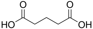 グルタル酸の化学構造