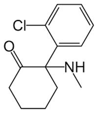 ケタミンの化学構造