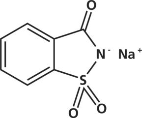 サッカリンNa(サッカリンナトリウム)の化学構造