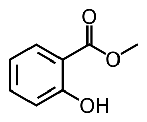 サリチル酸メチルの化学構造