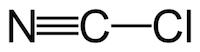 シアン化塩素の化学構造