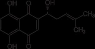 シコニンの化学構造