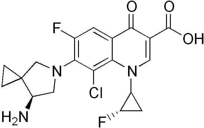 シタフロキサシンの化学構造