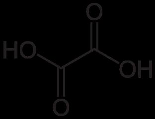 シュウ酸の化学構造