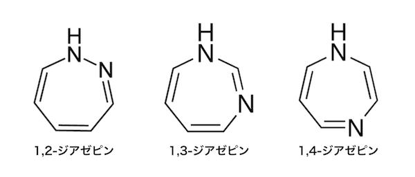ジアゼピンの全異性体の化学構造